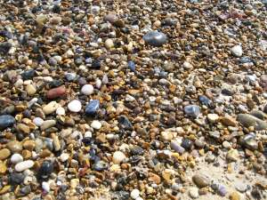 salt water pebbles